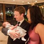 Марк Цукерберг показал жену и дочку на праздновании Нового года