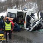 ДТП в Харькове скорая, потерявшая управление, врезалась в автобус