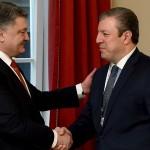 Президент Украины обсудил развитие Шелкового пути с премьером Грузии