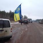 Российские грузовики в Житомирской области блокирует «Автомайдан»