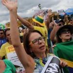 Акции протеса за отстаку президента Бразилии